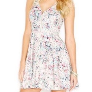 GUESS Zip front Multi-Colored back cut out dress